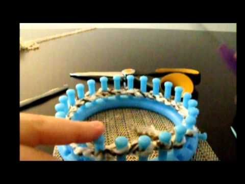 Easy Mittens on a loom part 1 - YouTube