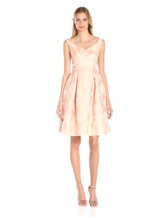 Maggy London Women's Mum Jacquard Fit and Flare