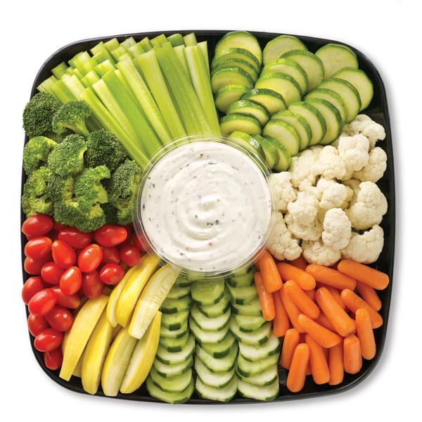 Veggie tray! Nobody ever eats crudites, but we look like horrible unhealthy people if we don't at least HAVE 'em.