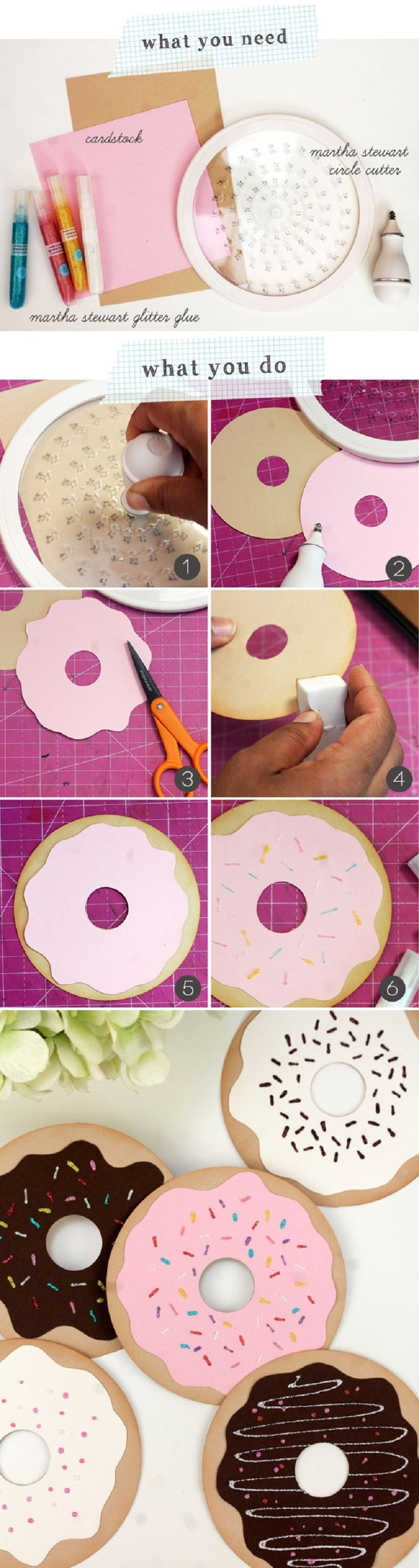 DIY Paper Donut Valentines - 15 Most PINteresting DIY Paper Decorations   GleamItUp