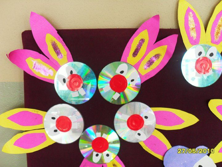 cd bunny craft  |   Crafts and Worksheets for Preschool,Toddler and Kindergarten