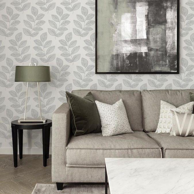 Scott Living 30 75 Sq Ft Grey Vinyl Ivy Vines Self Adhesive Peel And Stick Wallpaper Lowes Com In 2020 Peel And Stick Wallpaper Home Buying Home Decor