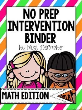 Your time is precious! This HUGE intervention binder has OVER 300 PAGES of math intervention!! Intervention should be powerful,  purposeful, and easy to prep! This binder is ink-friendly because it can be used over and over again with the use of sheet protectors and dry erase markers.