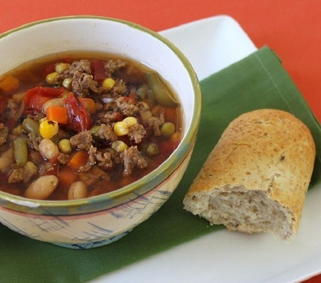 Vegetable Beef Soup--in the crockpot!