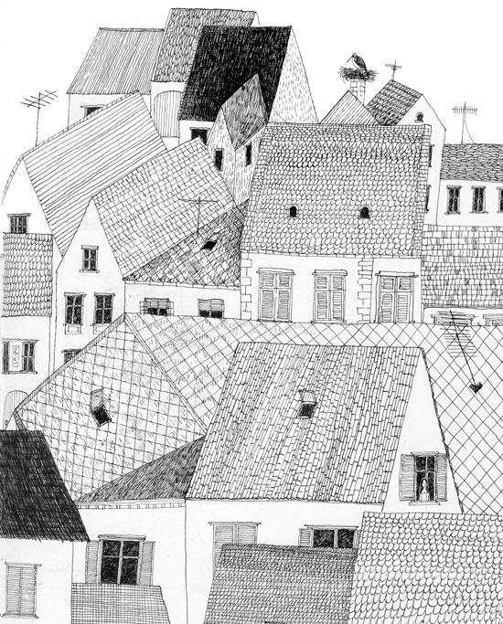 Julie Morstad / city illustration / house