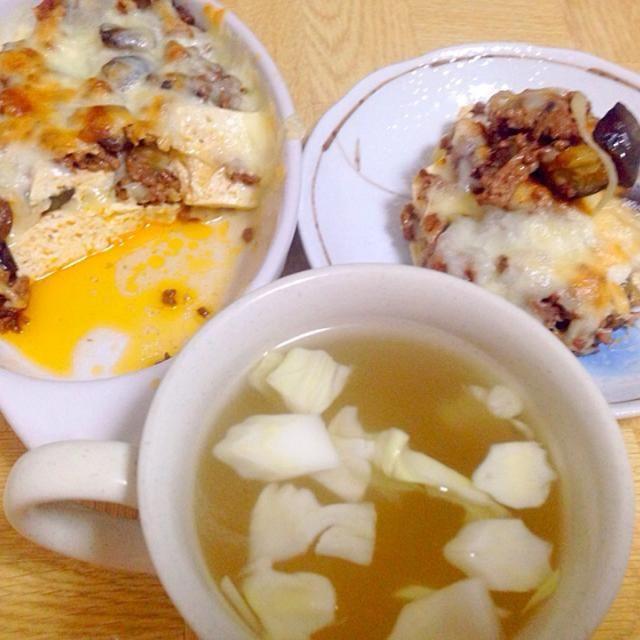 パスタとは違うあっさりと - 17件のもぐもぐ - 木綿豆腐でラザニア風・春キャベツの芯のスープ by taroumasaydyZ