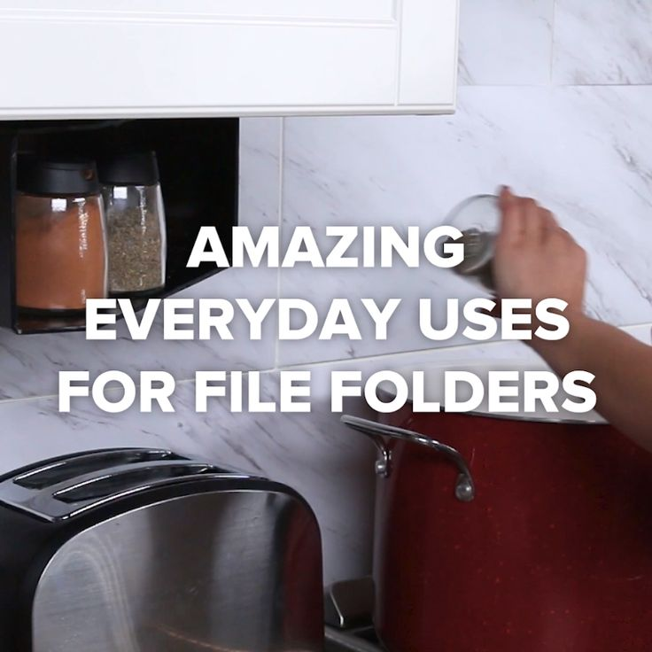 Amazing Everyday Uses For File Folders #DIY #hacks #organization #space #kitchen