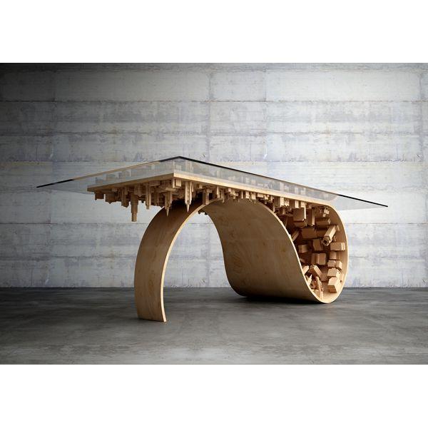 PRODUKTY :: BÝVANIE :: NÁBYTOK :: Stoly :: Wave City Dining Table - DESIGN FORUM SHOP - Dizajn vyrobený s láskou