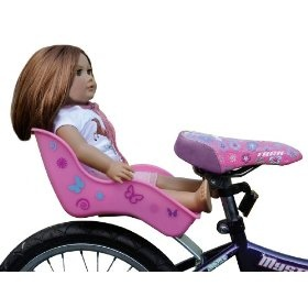 Ride Along Dolly - Doll Bicycle Seat with Decorate Yourself Decals, (doll seat, preschool  bike accessories, bike accessories, baskets, kids bikes, toddler doll accessories, bike basket, doll car seat, girls bike, bike beads)