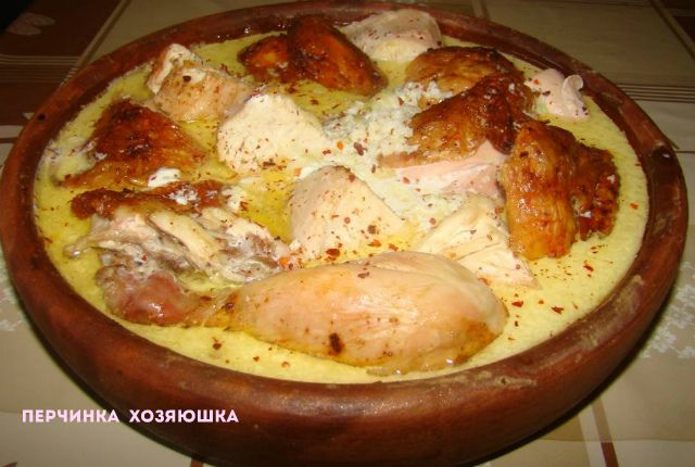 Шкмерули (Чкмерули) -цыпленок по-грузински - Перчинка хозяюшка