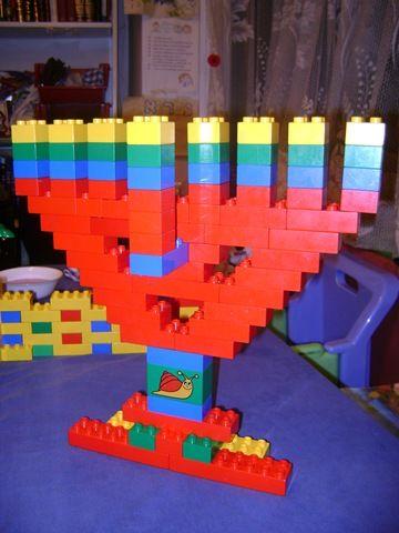 Ideas for Making a Lego Hanukkah Menorah