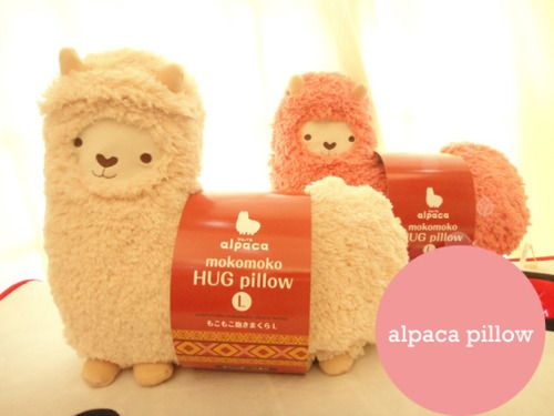 Alpaca pillow. give this to the recipient with a real alpaca or llama in the recipient's name from Heifer International charity. gifts of sustainable farm living for the poorest of villagers. has a scented butt lol!