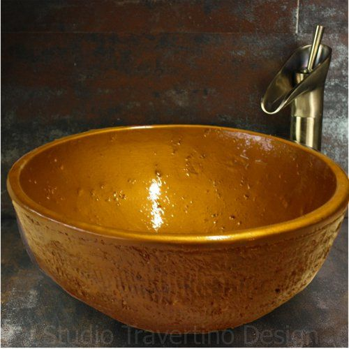 Handmade percher sink Theon dimension 37 x 15.5 Copper