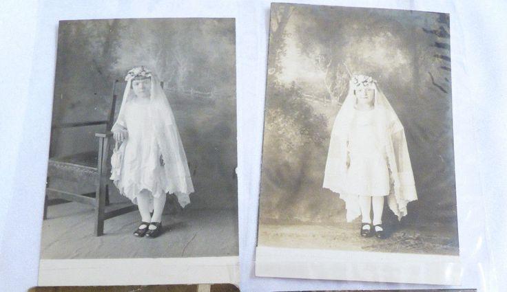 lot of 2 Vintage antique post card photo Photographs Kids Girls Children | eBay
