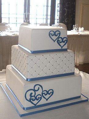 Best 25 Blue square wedding cakes ideas on Pinterest Pastel