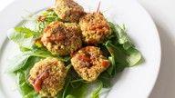 Vegansk ovnsbakt litt sunnere falafel oppskrift.