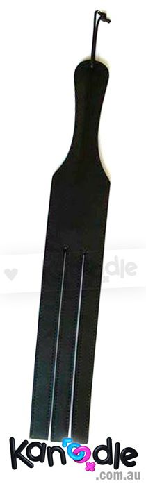 Heavy black leather dual cut tawse