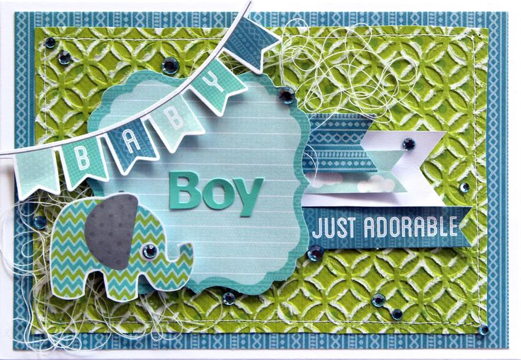 """Baby Boy"" Card by Cathy Catun Design Team Kaisercraft using 'Little One' collection - Wendy Schultz ~ Baby Cards."