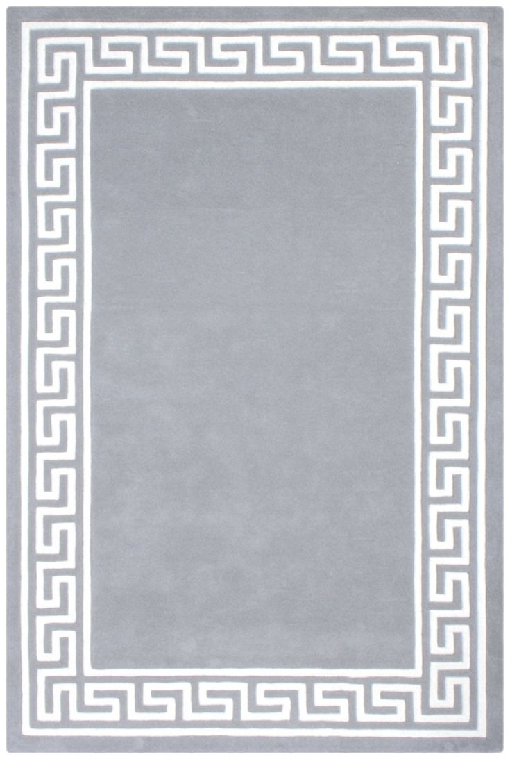 ECD006 100% Wool Silver Grey Mahal Indian Rug Design Handmade in India with a 18mm pile