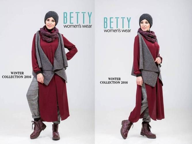 maroon and gray hijab outfit