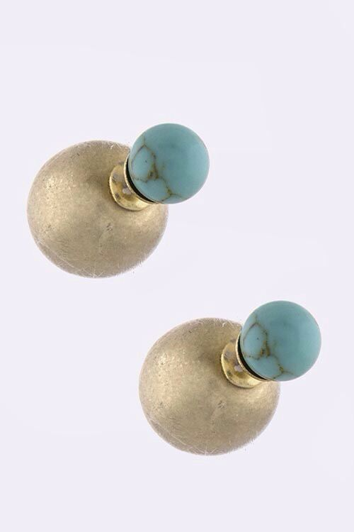 Double sided studs from www.piececlothingboutique.com