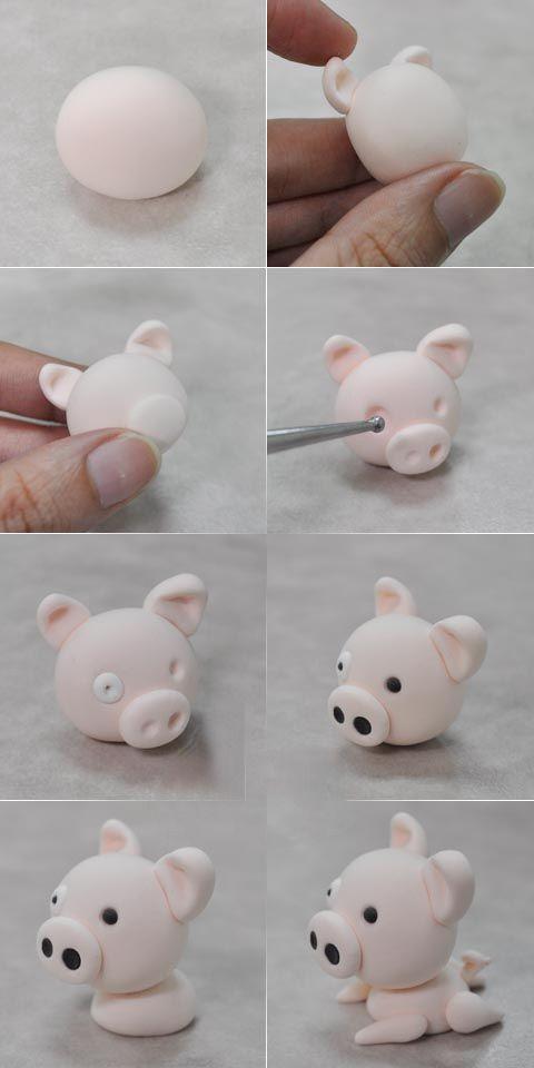 Как сделать свинку из мастики и торт со свинкой, в виде свинки с мастикой?