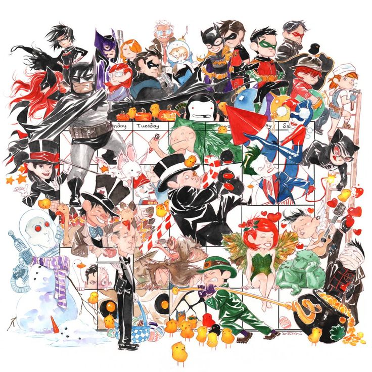 dustin nguyen art | DC Add Dustin Nguyen's Lil' Gotham To Their Digital Collection - The ...