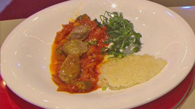 Rezept: Persisches Auberginen - Lammragout (Enissa Amani)