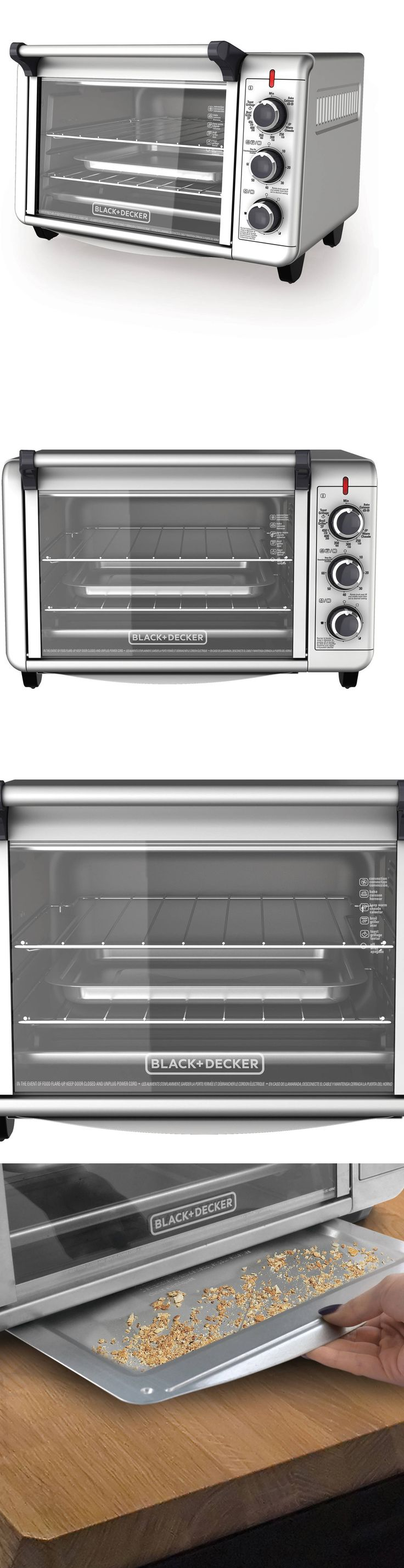 Toaster Ovens 122930: Electric Convection Oven Pizza Toaster Countertop Stainless Steel Black N Decker -> BUY IT NOW ONLY: $49.95 on eBay!