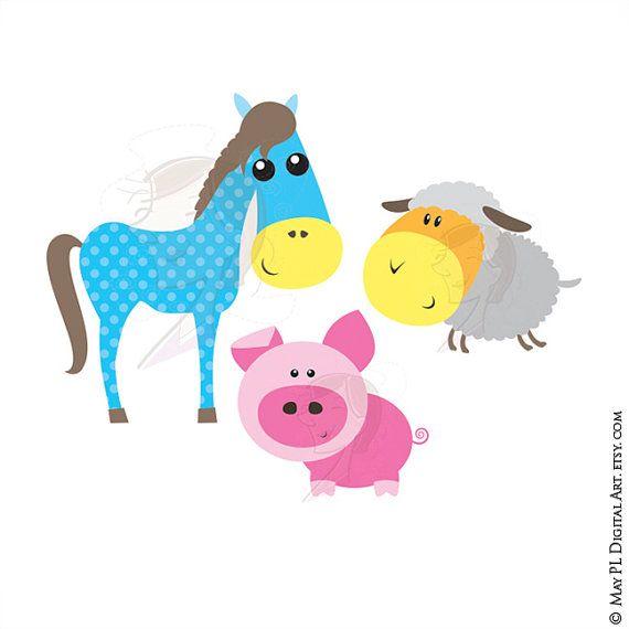 15+ Cute Baby Farm Animal Clipart