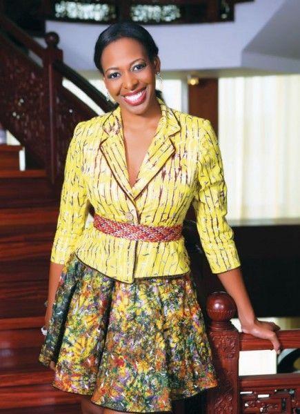 Biola Alabi -casual friday in African attire
