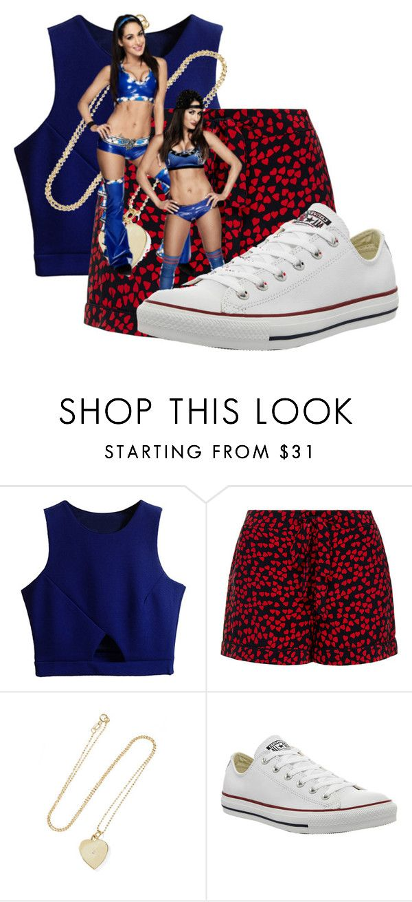 """""""Hanging out with Nikki and Brie Bella"""" by abriellekitty ❤ liked on Polyvore featuring Equipment, Jennifer Meyer Jewelry, Converse, women's clothing, women, female, woman, misses and juniors"""