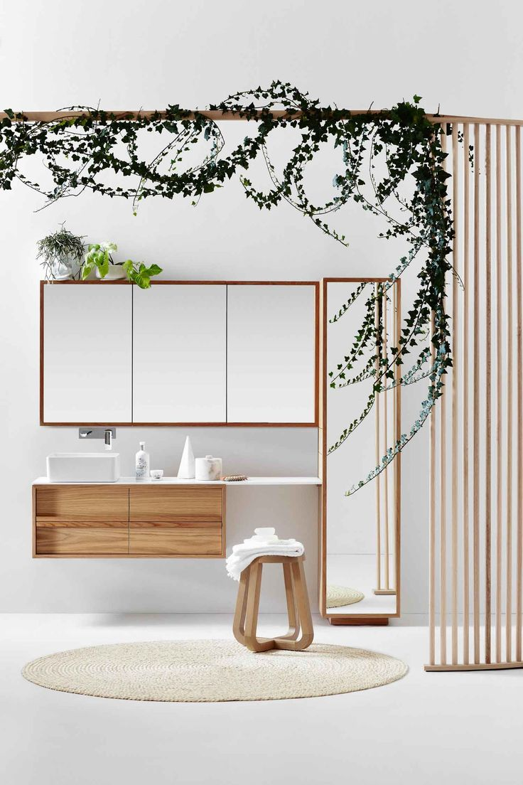 Love the timber drawers. Beautiful and functional. ISSY by Zuster Collection of Bathroom Furniture | Yellowtrace
