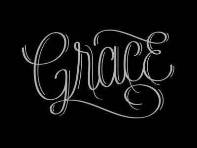 Grace Lettering by Jude Landry