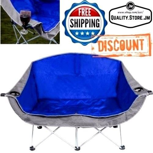 Double Folding Chair Camping Camp Portable Beach Chairs Outdoor Loveseat Picnic #Ozark