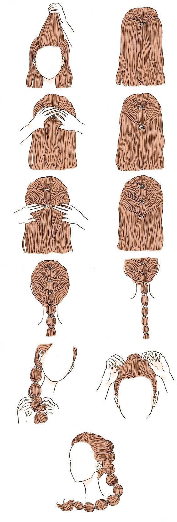 lange haare modelle – Peinado prom #end ball #short models #lange #p