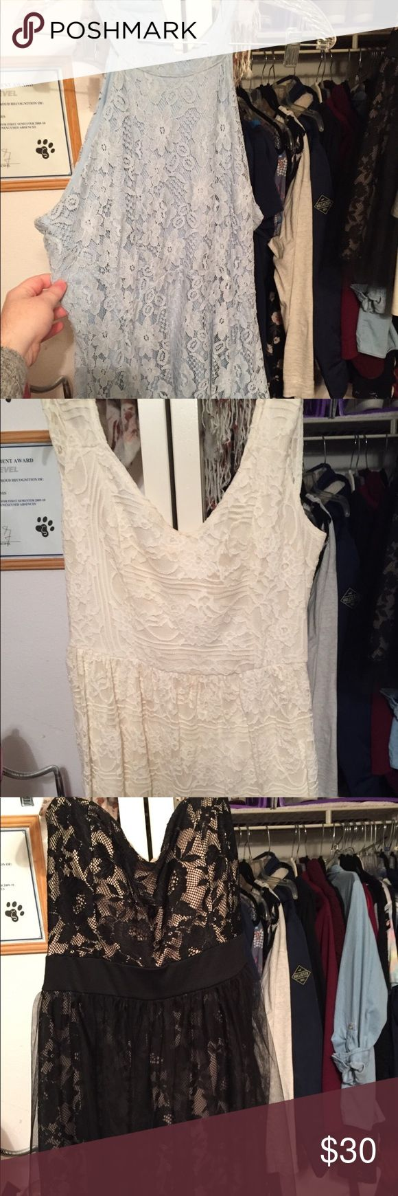 Bundles of dresses from rue21 and Charlotte ruse Have 3 different dresses for a bundle, great deal for New Years! They are all great condition and no stains or rips. They are all size large. If you have any info about them let me know! I also have more pictures of them in my profile that I sell. Charlotte Russe Dresses Prom