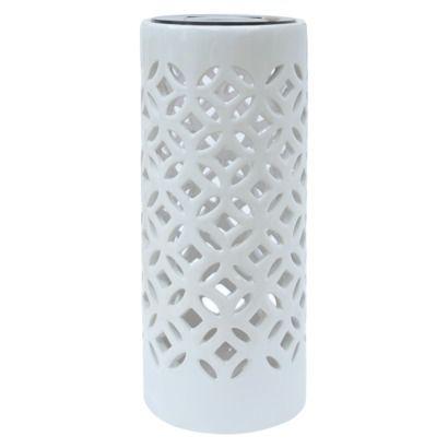"Threshold™ Ceramic Outdoor Solar Lantern - 10"""
