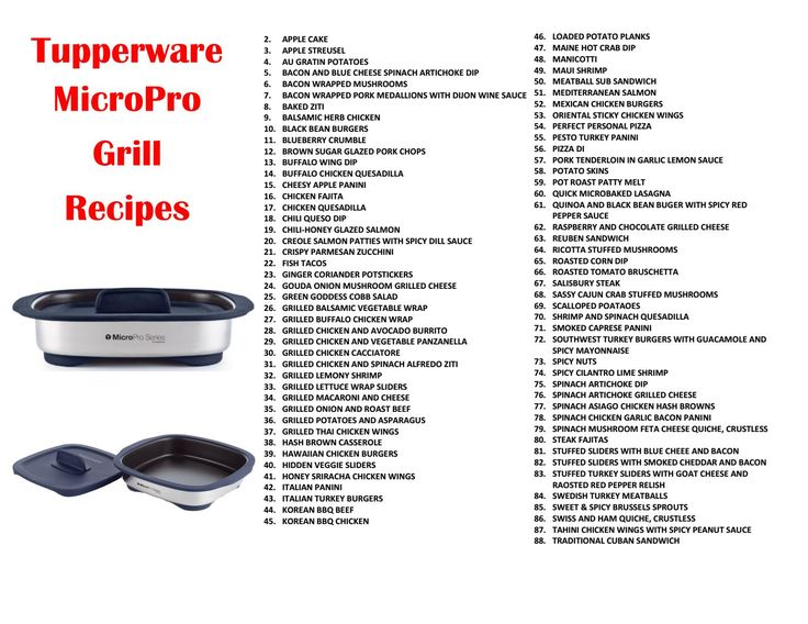 MicroPro Grill Recipes