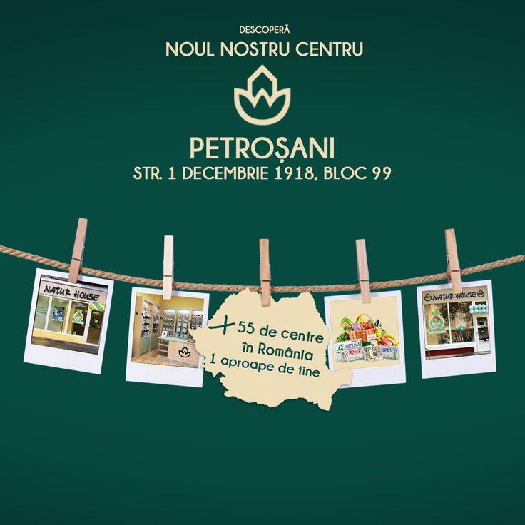 Începând cu data de 24 aprilie 2017, puteți beneficia de serviciile și produsele Natur House și în centrul deschis în Petroșani, județul Hunedoara. Centrul Natur House se află pe str. 1 Decembrie 1918, bloc 99.  Vă așteptăm cu drag de lunea până vinerea, între orele 10-19!