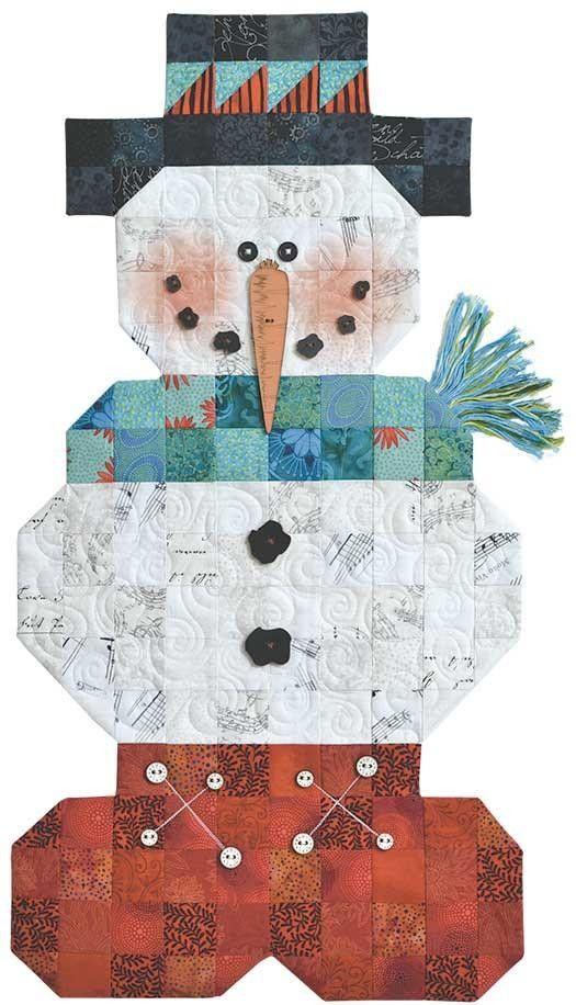 A great quilt idea! The page seems to be unavailable BUT if you quilt, this picture shows all the detail you need to make this cute guy! Roly Poly Snowman Pattern