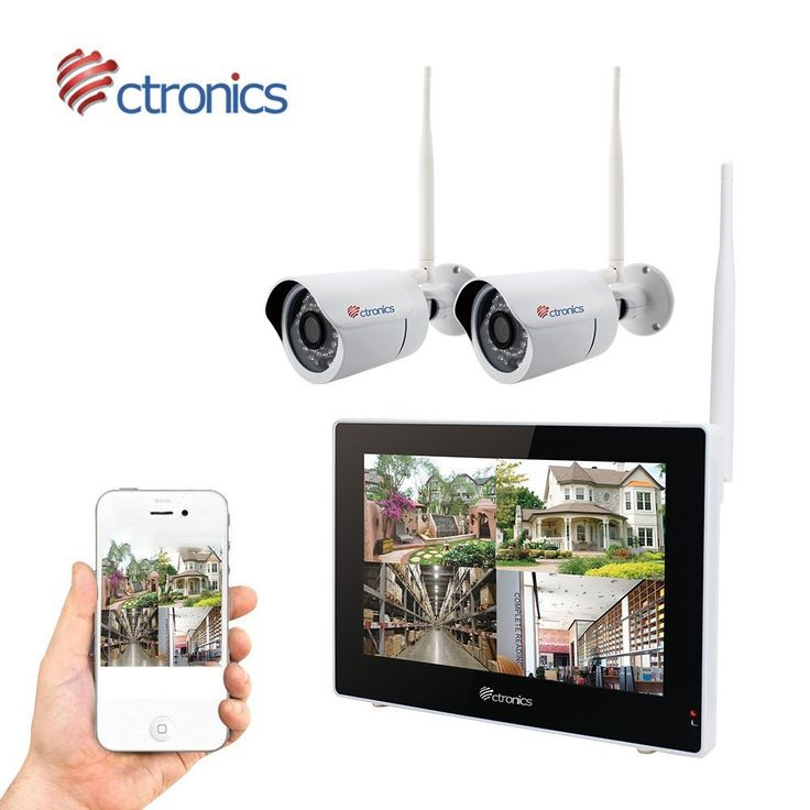 "(TOUCH SCREEN)Ctronics Wireless Camera System 2.4G Wireless Surveillance System WIFI Cameras System 9"" Touch Screen Monitor 2720P WIFI IP Camera for Home Surveillance (NO HDD)"