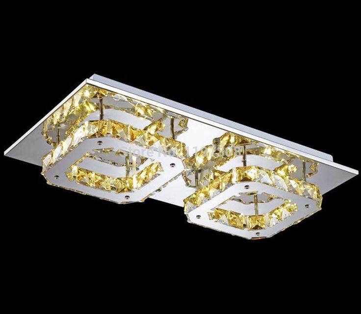Потолочный Светильник LED из нержавеющей стали очистить Кристалл Проход потолок Современные лампы Creatives Площадь для потолок промышленное Освещение