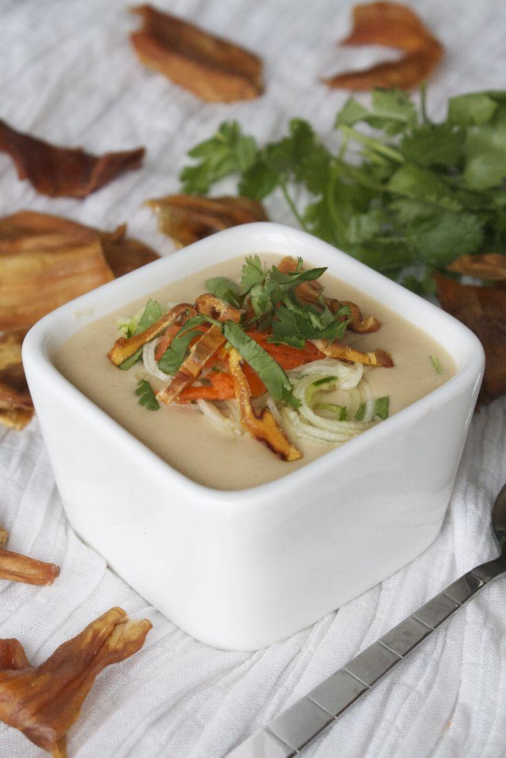 Thai coconut jackfruit soup #recipe #vegan #rawfood