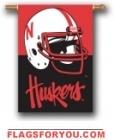 Nebraska Cornhuskers Double Sided Outdoor Hanging Banner - 1 lef