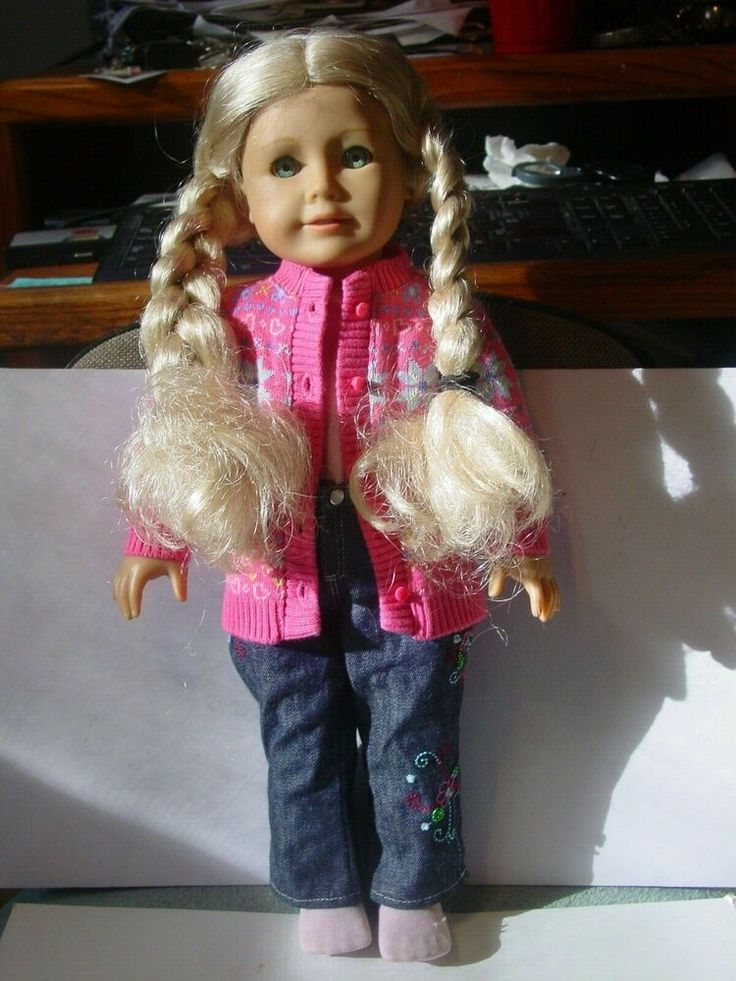 American girl doll with blond hair 20 e 10 americangirl