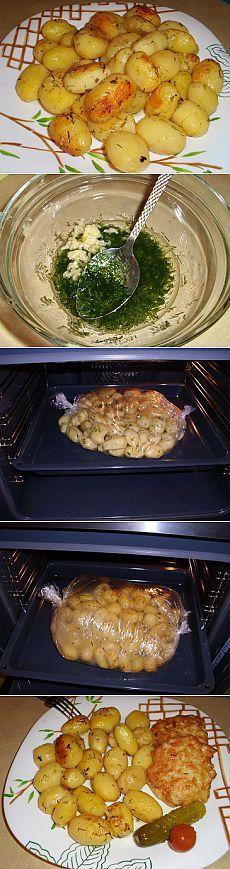 Картофель запеченный в пакете   Рецепты моей мамы