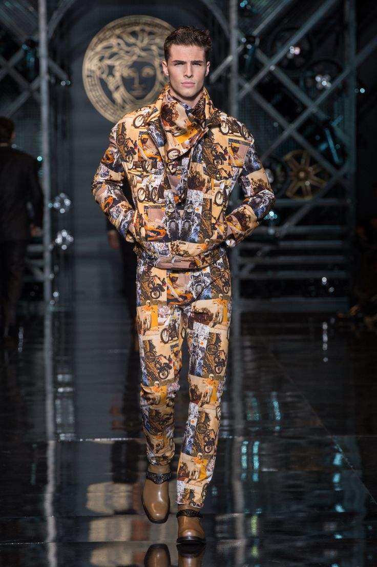 versace mens wear autumn winter 1415 fashion show