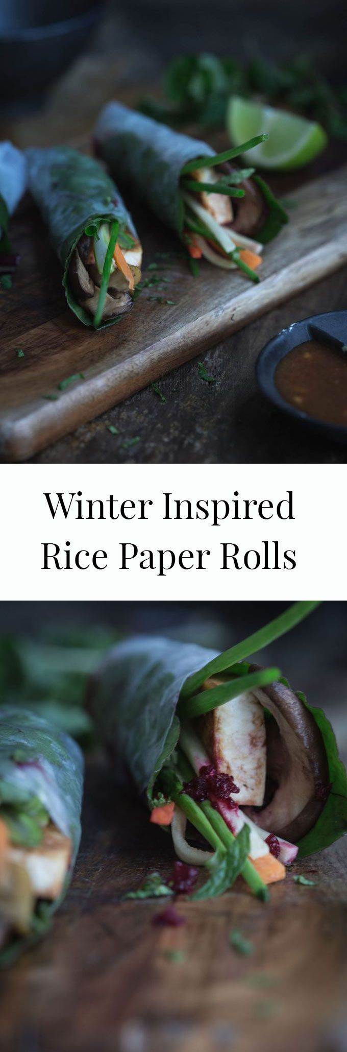 With a vibrant beetroot paste, earthy mushrooms and hoisin-infused tofu, these Winter Inspired Rice Paper Rolls are deliciously nutritious and quick.