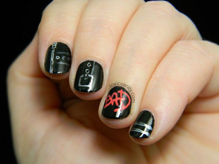 33 best michael jackson nails design images on pinterest michael da 22 cancin manicura inspirada en bad de michael jackson toxic vanity prinsesfo Gallery